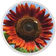 Sienna Sunflower Round Beach Towel