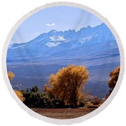 Sierra Autumn Gold Round Beach Towel