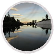 Sierra Reflection II Round Beach Towel