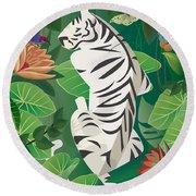 Siesta Del Tigre - Limited Edition 2 Of 15 Round Beach Towel