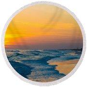 Siesta Key Sunset Walk Round Beach Towel