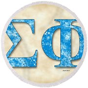Sigma Phi Society - Parchment Round Beach Towel