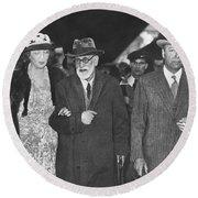 Sigmund Freud Exiled Round Beach Towel