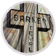 Sign - Barker Temple - Kcmo Round Beach Towel