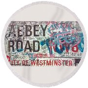 Sign Of The Times Round Beach Towel