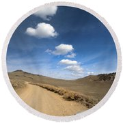 Signals ... Along The Bristlecone Pine Highway, White Mountains, California.  Round Beach Towel
