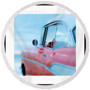 Signed Chevy Belair At The Beach Mini Round Beach Towel