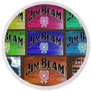 Signs Of Jim Beam Round Beach Towel