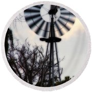 Signs Of The Approaching Storm Round Beach Towel