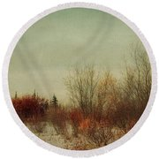 Signs Of Winter Round Beach Towel