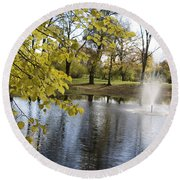 Sigulda Pond Round Beach Towel