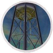 Sikeston Water Tower  II Round Beach Towel