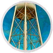 Sikeston Water Tower Iv Round Beach Towel