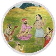 Sikh Painting Round Beach Towel