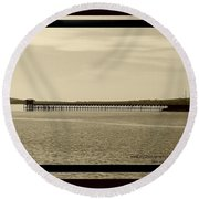 Silance Bridge Round Beach Towel