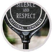 Silence And Respect Round Beach Towel by Steve Gadomski