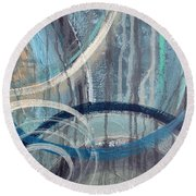 Silent Drizzle II Round Beach Towel