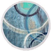 Silent Drizzle Round Beach Towel