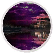 Silent River Round Beach Towel