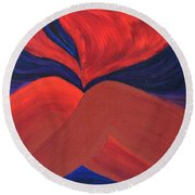 Silent She Emerges Round Beach Towel by Daina White