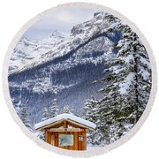 Silent Winter Round Beach Towel