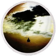 Silhouette Cloud Round Beach Towel