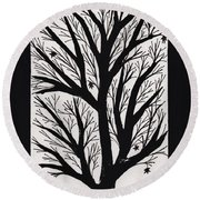 Silhouette Maple Round Beach Towel by Barbara St Jean