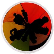 Silhouettes Around The Balloon Round Beach Towel