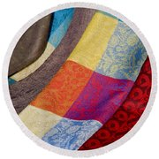 Silk And Wool Round Beach Towel
