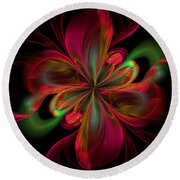 Silk Butterfly Abstract Round Beach Towel