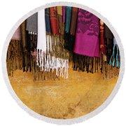 Silk Fabric 02 Round Beach Towel