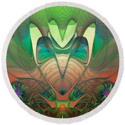 Silk Fan - Abstract  Round Beach Towel