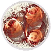 Silk Labyrinth Round Beach Towel