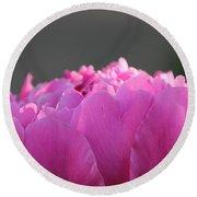 Silky Pink Petals Round Beach Towel