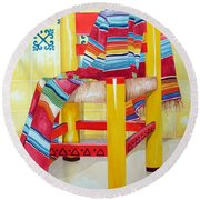 Silla De La Cocina--kitchen Chair Round Beach Towel