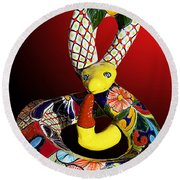 Silly Snake Round Beach Towel