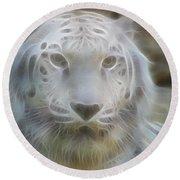 Silver-7963-fractal Round Beach Towel