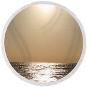 Silver And Gold Round Beach Towel