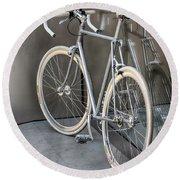 Silver Bike Round Beach Towel