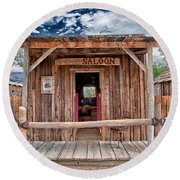 Silver Canyon Saloon Round Beach Towel