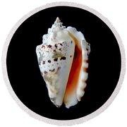 Silver Conch Seashell Round Beach Towel