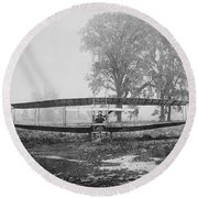 Silver Dart - Aeroplane At Hammondsport 1908 Round Beach Towel