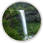 Silver Falls 1 In Oregon Round Beach Towel
