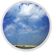 Silver Lake Sand Dunes 2.0 Round Beach Towel