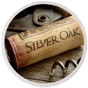 Silver On Silver Round Beach Towel