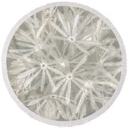 Silver Puff Round Beach Towel
