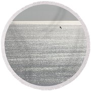 Flying Solo Round Beach Towel