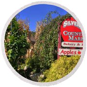 Silverman's Country Farm Round Beach Towel