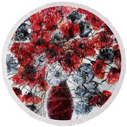 Simfoni Of Love Round Beach Towel