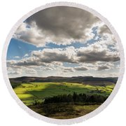 Simonside Hills From Rothbury Terraces Round Beach Towel
